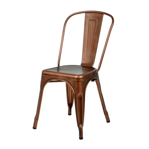 Katsikis Stacking Patio Dining Chair (Set of 4) by Williston Forge Williston Forge