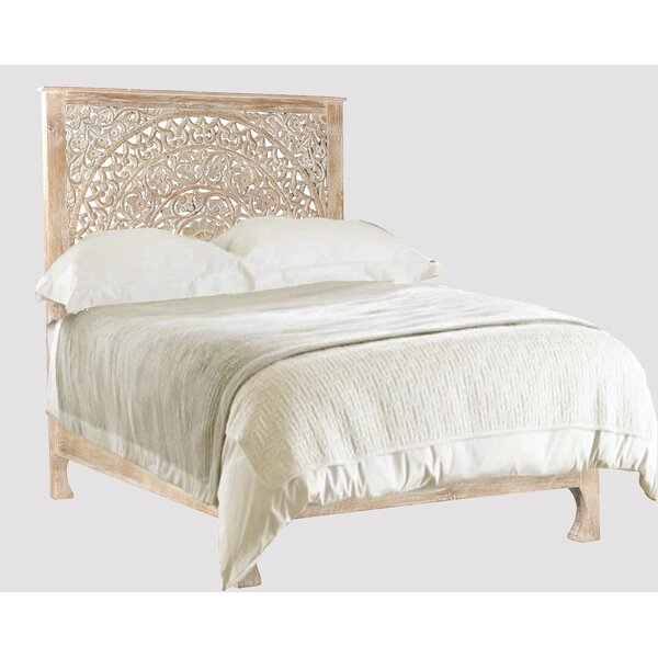 Alia Carved Standard Bed by Mistana