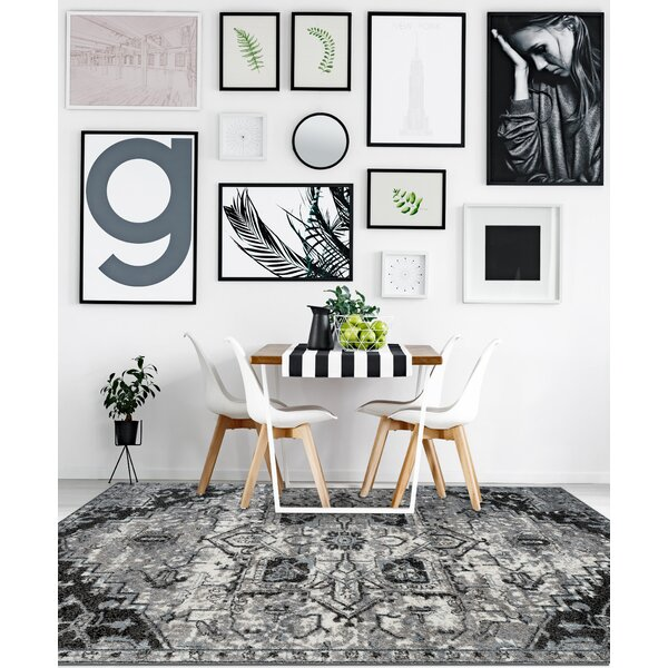 Honig Transitional Ivory Area Rug by Charlton Home