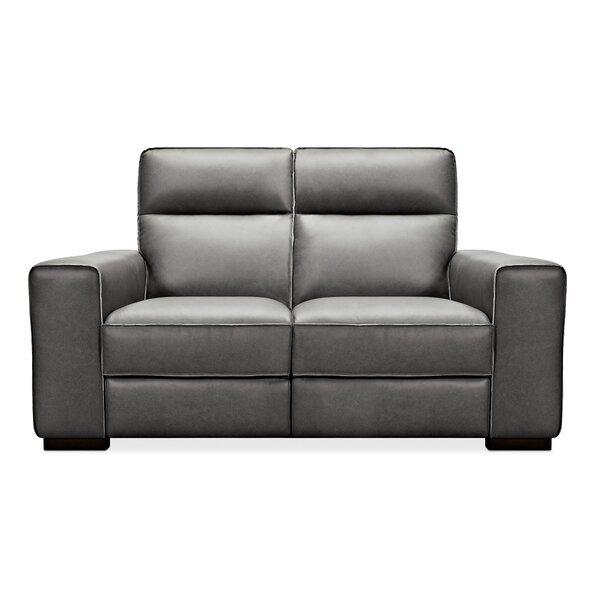 Braeburn Leather Reclining Loveseat By Hooker Furniture
