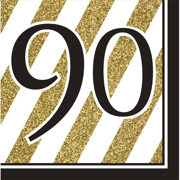 90th Birthday 6.5 Napkin (Set of 16) by Creative Converting