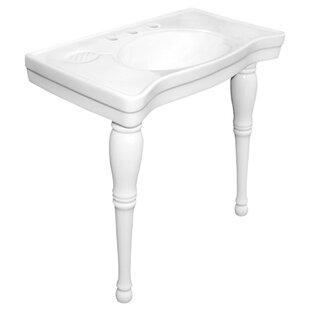 Read Reviews Imperial Ceramic 19 Console Bathroom Sink with Overflow ByElements of Design