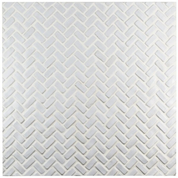 Greenwich 0.88 x 1.88 Ceramic Mosaic Tile in White by EliteTile