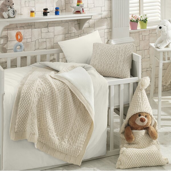 Coupland Wool Blended 6 Piece Crib Bedding Set by