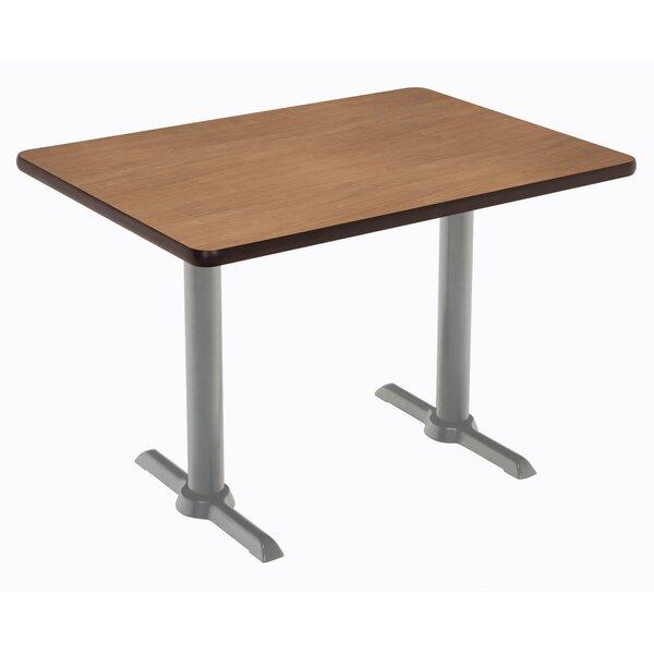 Mode 48 L x 30 W Pedestal Table by KFI Seating