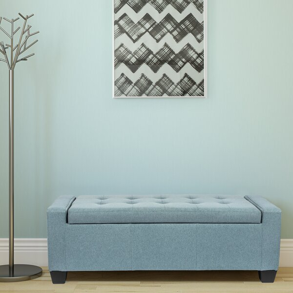 Maritza Upholstered Flip Top Storage Bench By Winston Porter