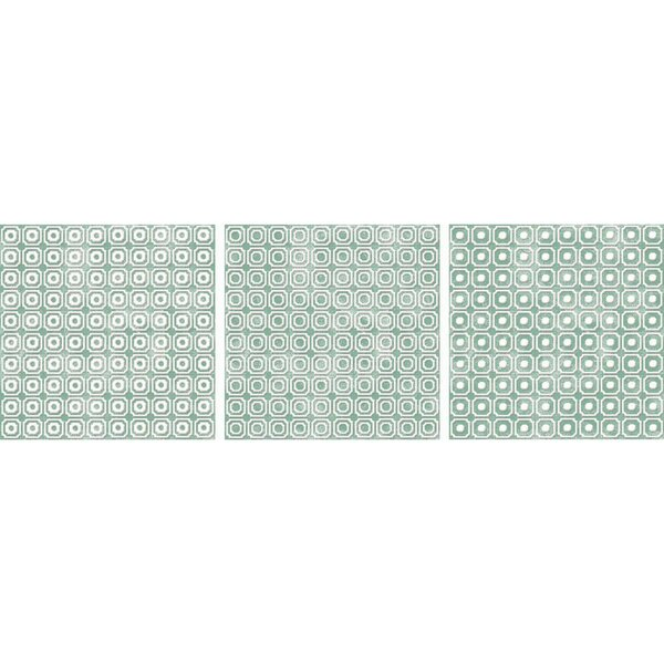Bargello 8 x 8 Porcelain Field Tile in Green by The Bella Collection