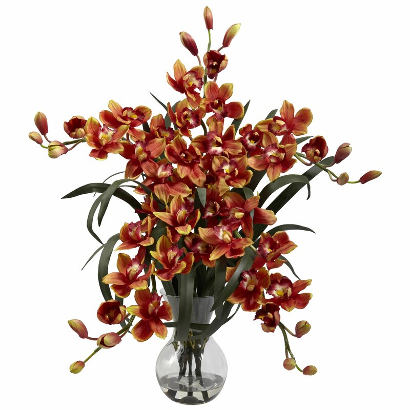 floral home decor orchid floral design wayfair.htm three posts large cymbidium orchid floral arrangements and  three posts large cymbidium orchid