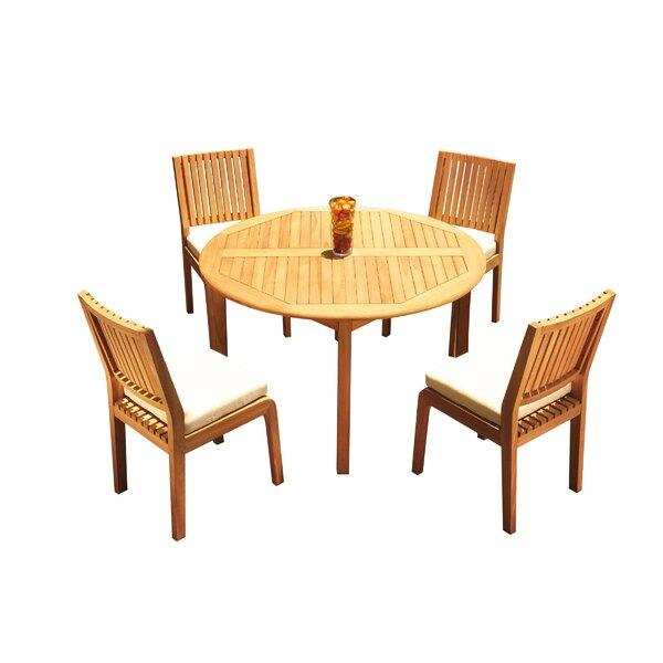Mastin 5 Piece Teak Dining Set