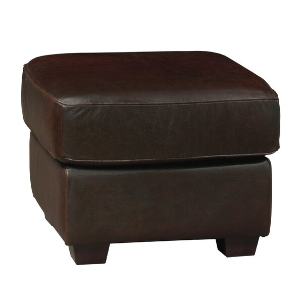 Buda Leather Ottoman by Williston Forge