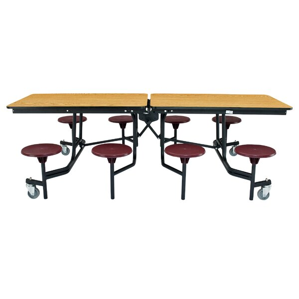 97 x 59Rectangular Cafeteria Table by National Public Seating