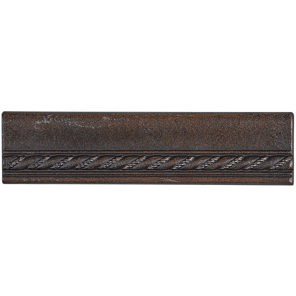 Tilden 1.5 x 6 Metal Chair Rail Tile in Oil Rubbed Bronze by Itona Tile