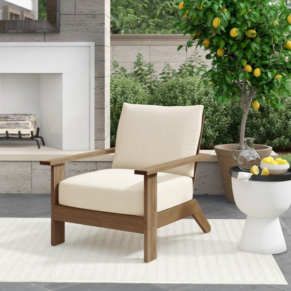 Ashland Teak Patio Chair with Cushions by Summer Classics