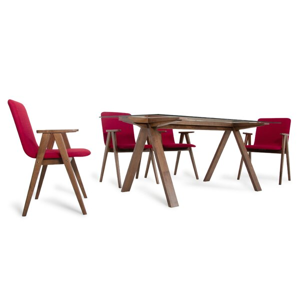 Tuel 5 Piece Dining Set by Brayden Studio