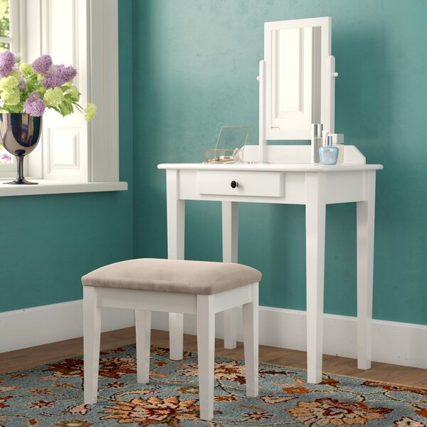 Buster Vanity Set With Mirror By Andover Mills
