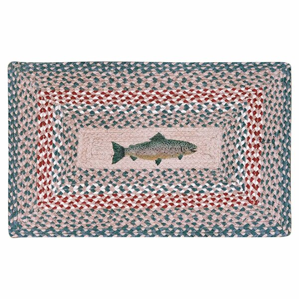 Fish Printed Area Rug by Earth Rugs
