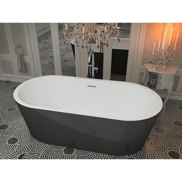 Dualita 66.75 x 31.6 Freestanding Soaking Bathtub by ANZZI