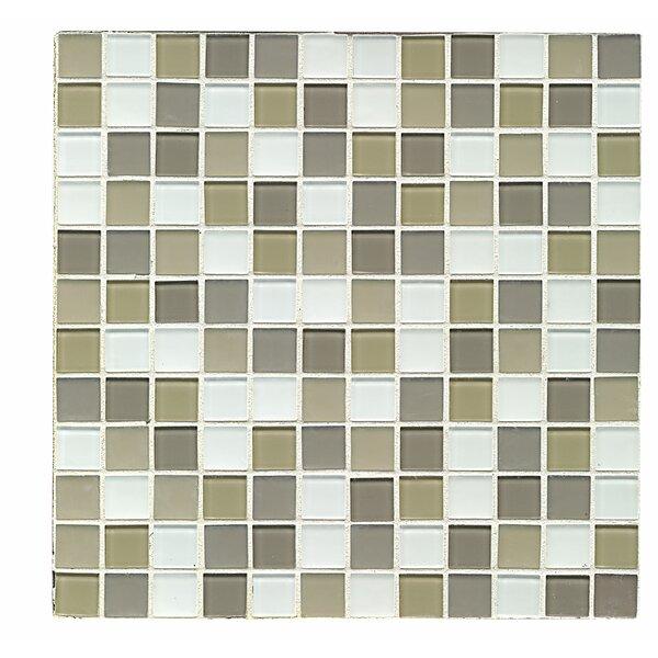 Shoreline 1 x 1 Glass Mosaic Tile in Traverse by Grayson Martin