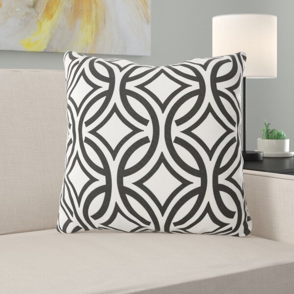Buddy Circles Outdoor Throw Pillow by Ebern Designs