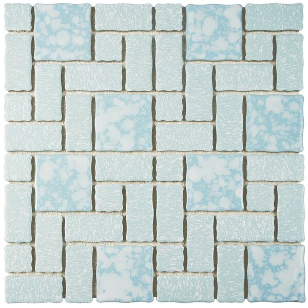 Academy Random Sized Porcelain Mosaic Tile in Blue by EliteTile