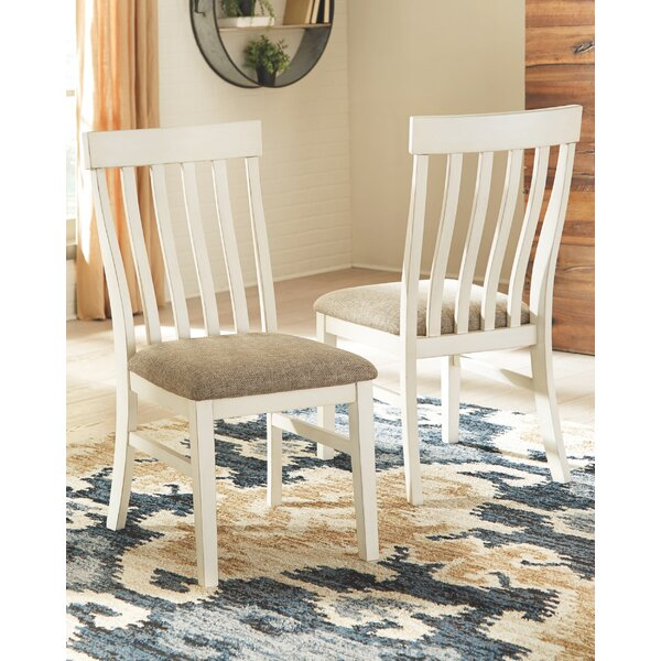 Mackinnon Upholstered Dining Chair (Set of 2) by Highland Dunes