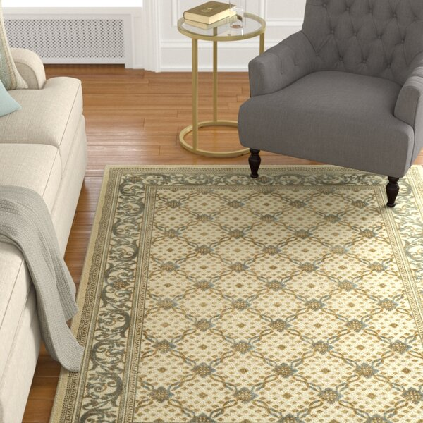 Patrick Dark Creme Area Rug by Charlton Home