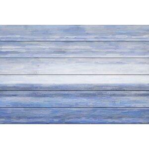 'The Ocean' by Parvez Taj Painting Print on White Wood by Parvez Taj