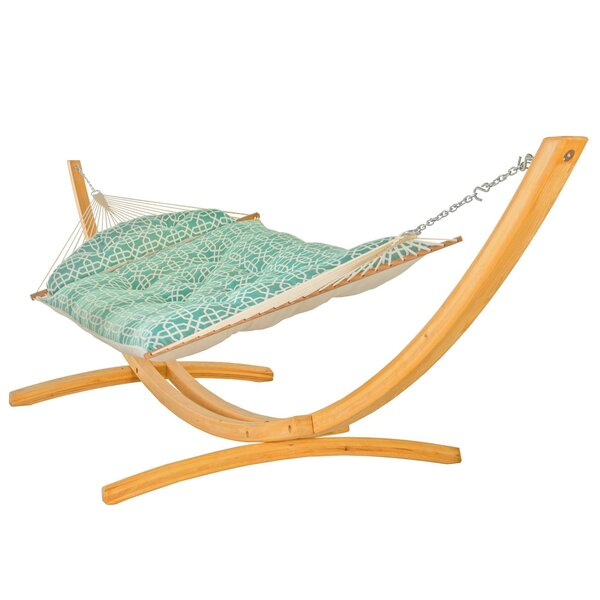 Francis Double Tree Hammock with Stand by Breakwater Bay