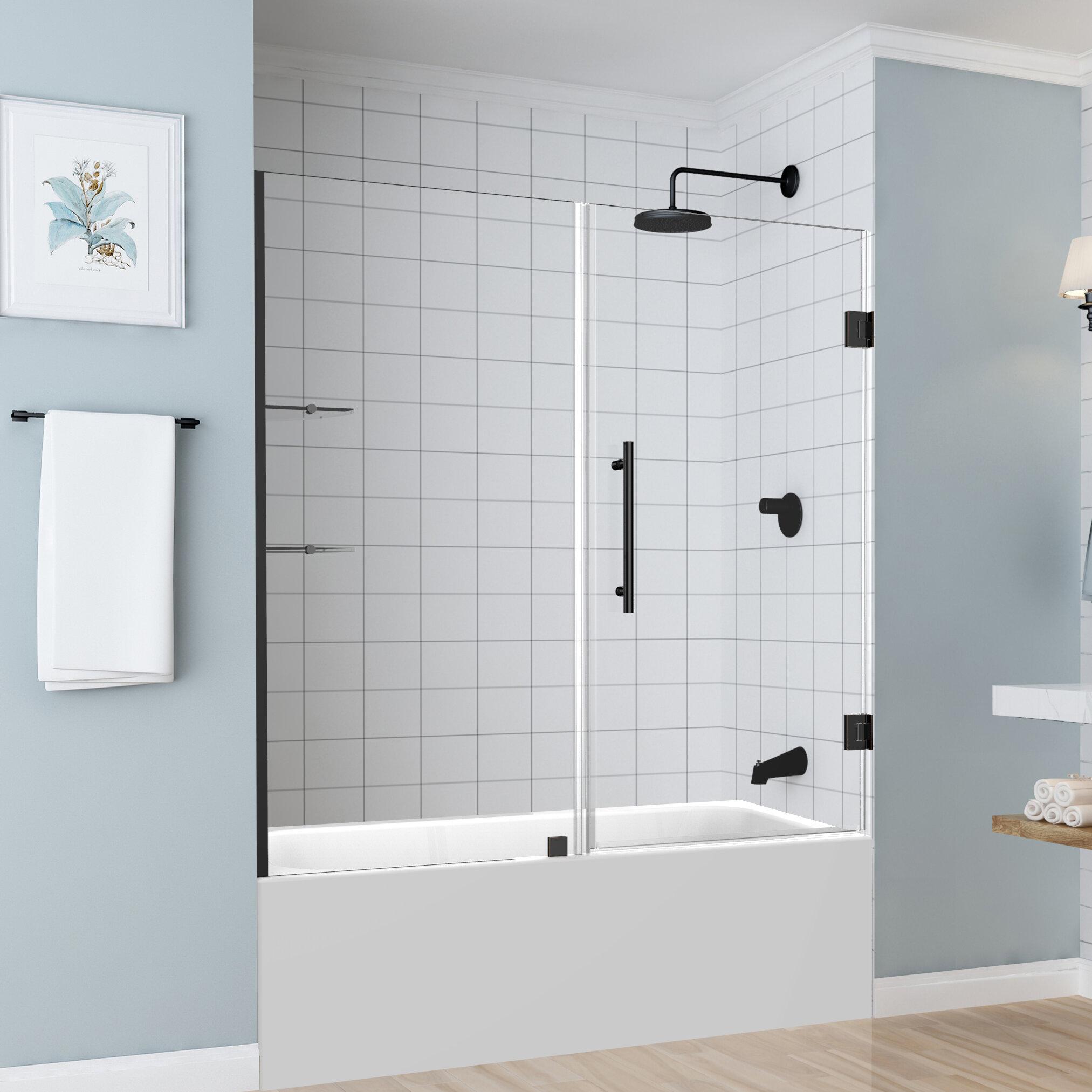 Coraline 48 X 76 Single Sliding Frameless Shower Door