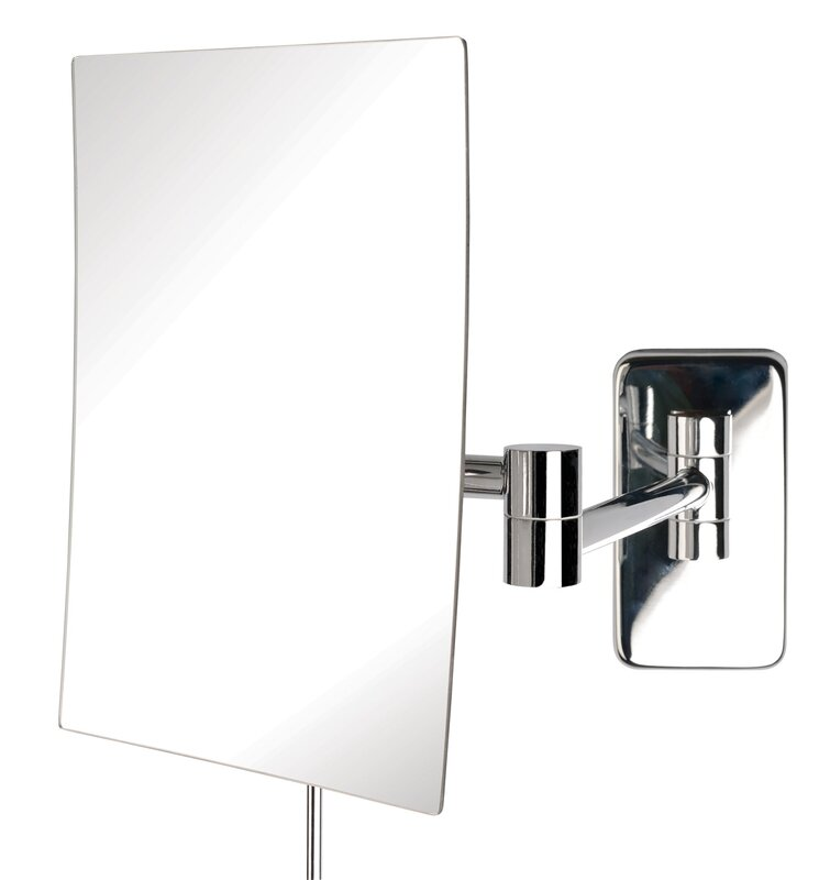 Wall Mounted Makeup Mirror jerdon wall mount rectangular makeup mirror & reviews | wayfair