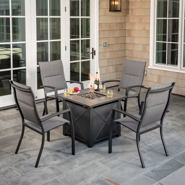 Topsham Chat 5 Piece Dining Set by Alcott Hill
