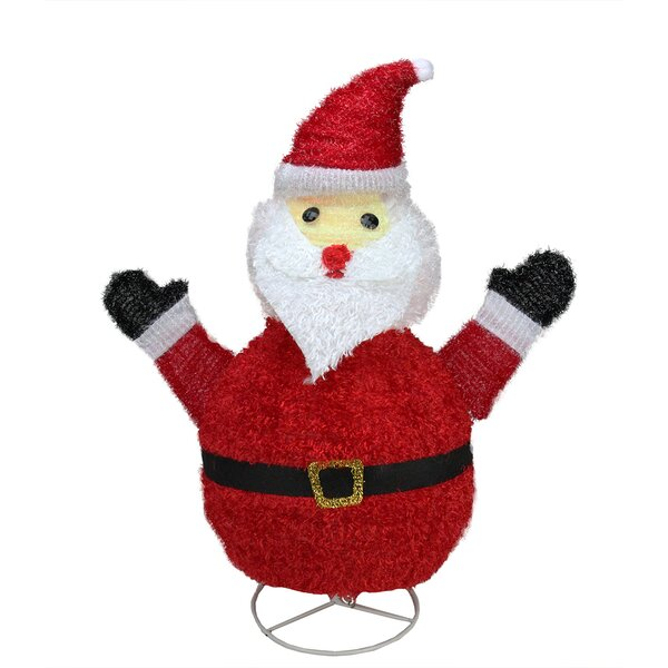 Pre-Lit Outdoor Chenille Santa Claus Christmas Yard Art Decoration by Northlight Seasonal