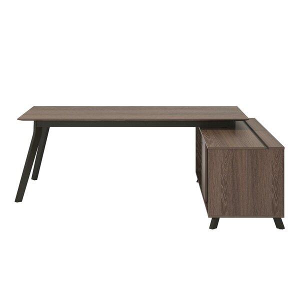 Gleason 2 Piece L-Shape Desk Office Suite by Wrought Studio