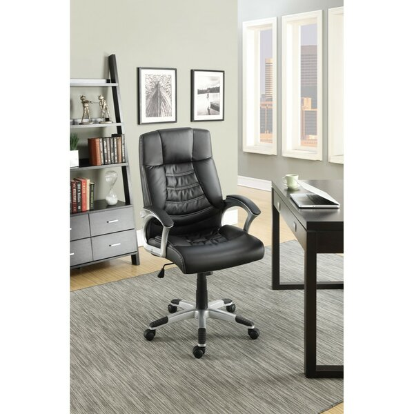 Klem Smart Gas Lift Adjustable Height Executive Chair by Symple Stuff