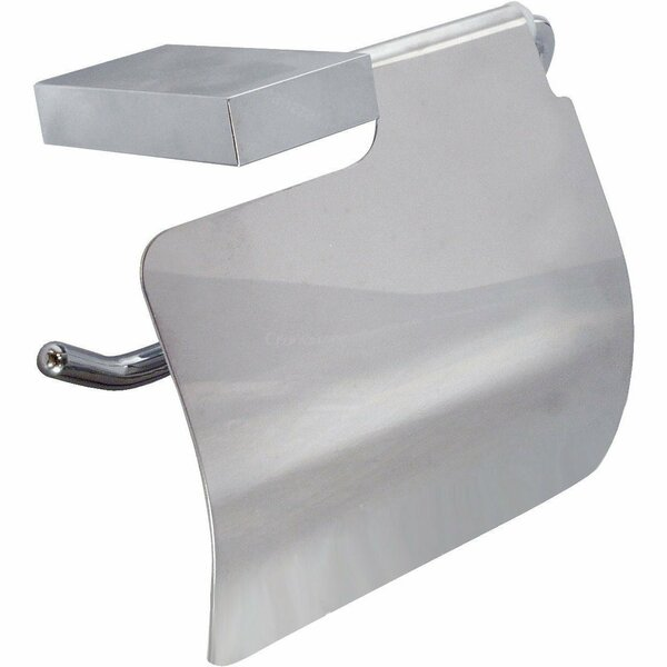 Wire Wall Mount Toilet Paper Holder with Lid Cover by AGM Home Store