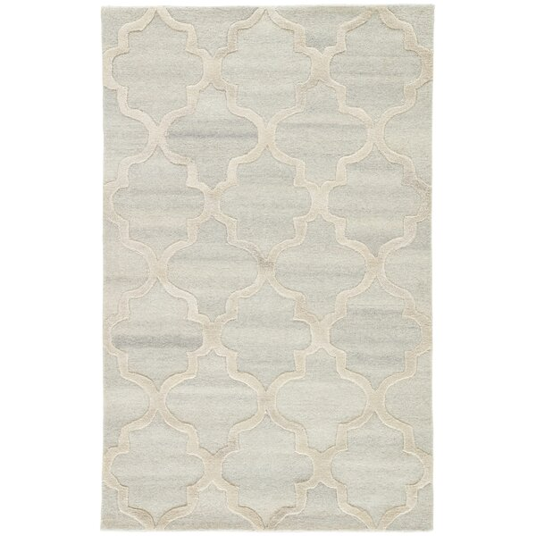 Portland Hand Tufted Wool Cream Area Rug by House of Hampton