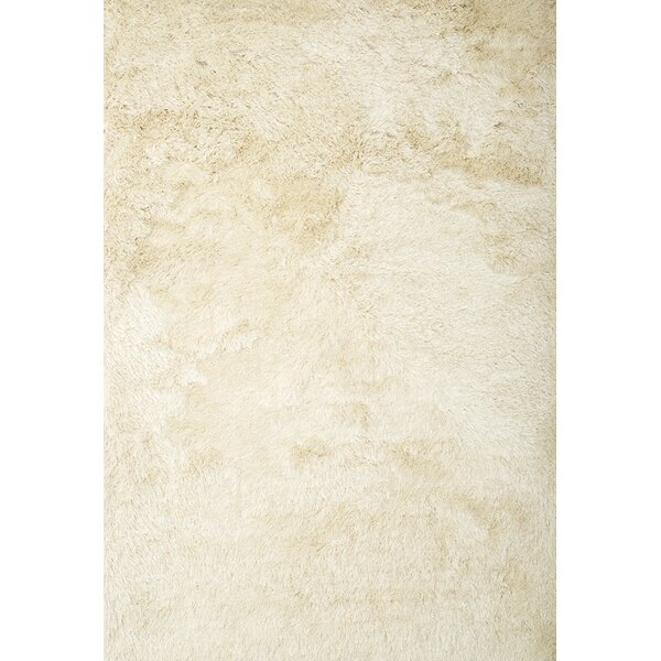 Yan Hand-Woven Polyester Ivory Indoor Area Rug by Everly Quinn