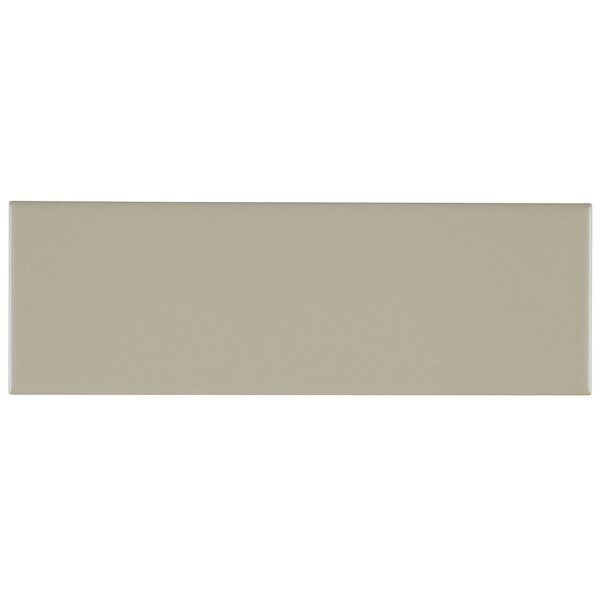 Berkeley 4 x 12 Ceramic Subway Tile in Matte Architectural Gray by Itona Tile