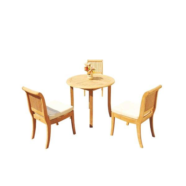 Massenburg 4 Piece Teak Dining Set