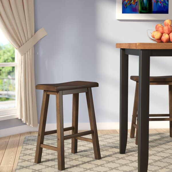 Bates 24 Wood Bar Stool (Set of 2) by Andover Mills