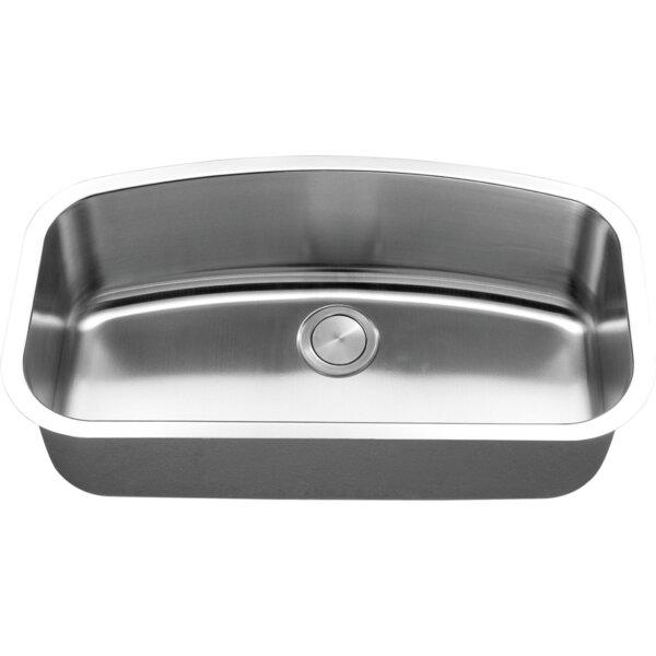 34 L x 19 W Undermount Kitchen Sink with Basket Strainer