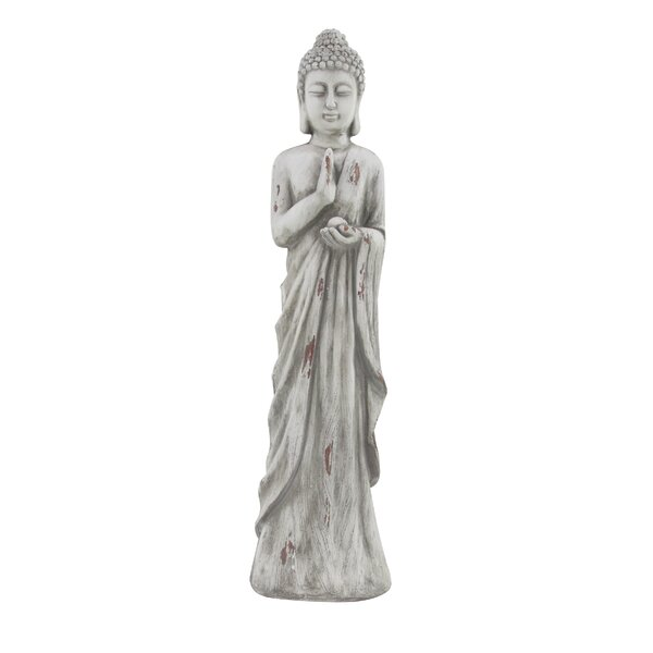 Hennings Traditional Distressed Buddha Resin Figurine by World Menagerie