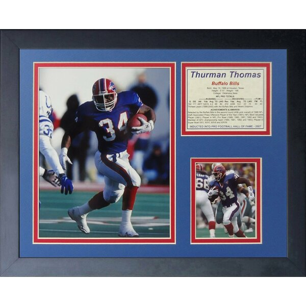 Thurman Thomas Framed Memorabilia by Legends Never Die