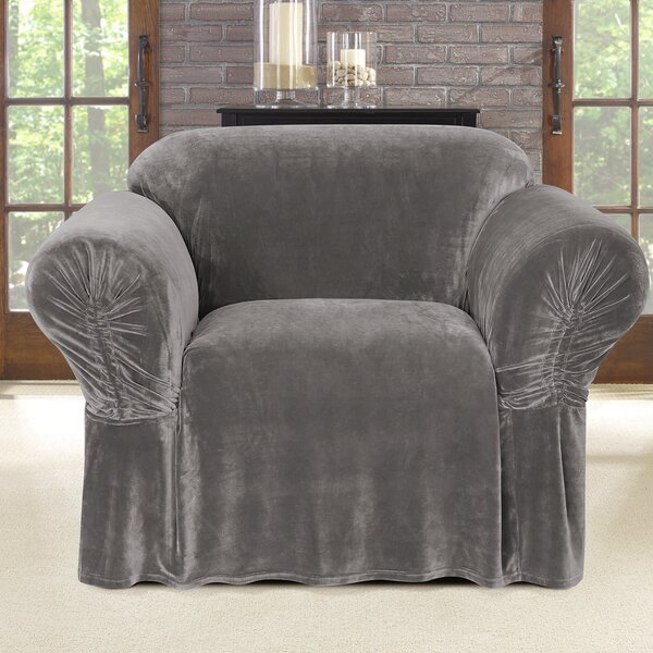 Stretch Plush Box Cushion Armchair Slipcover by Sure Fit