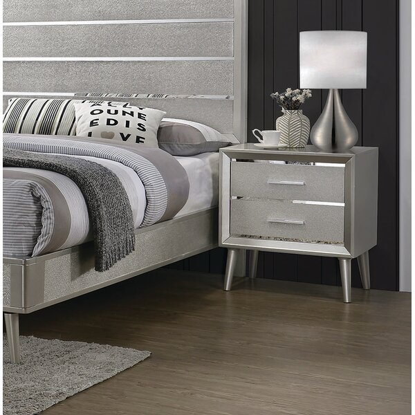Plumlee 2 Drawer Nightstand by Everly Quinn