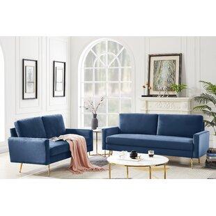 Media 2 Piece Velvet Configurable Living Room Set by Mercer41