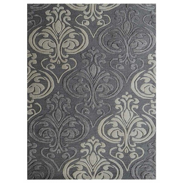 Brazier Hand-Tufted Wool Gray Area Rug by House of Hampton