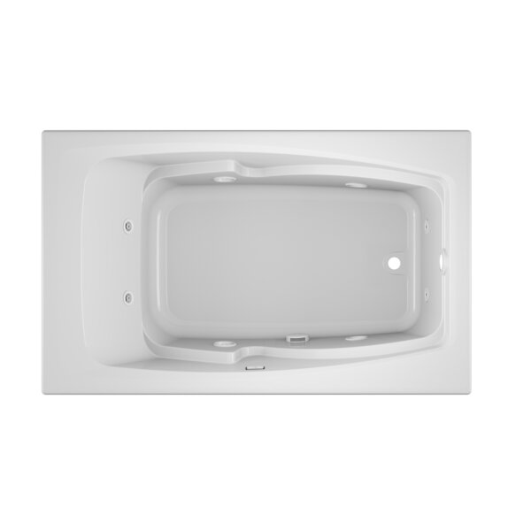Cetra Right-Hand Heater 60 x 36 Drop in Whirlpool Bathtub by Jacuzzi®