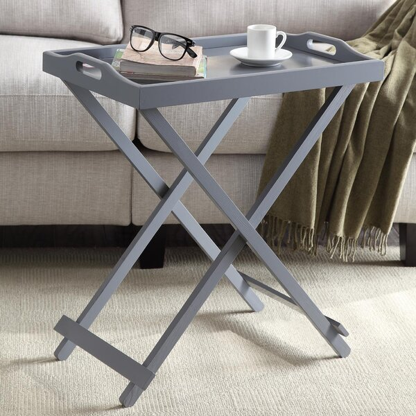 Schererville Folding Tray Table by Charlton Home