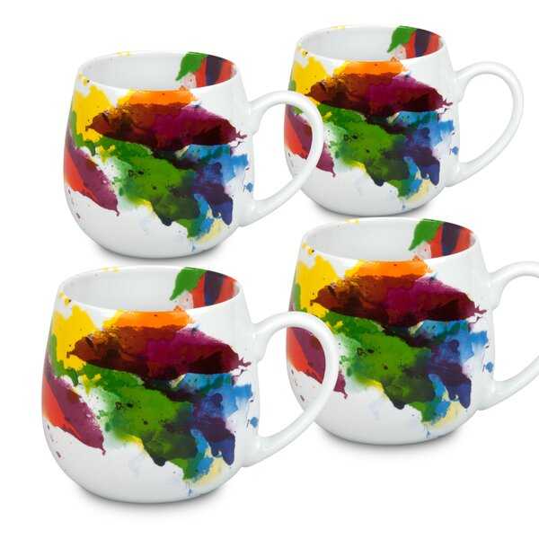 On Color-Flow Snuggle Mugs (Set of 4) by Konitz